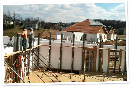Maryland ICF construction project